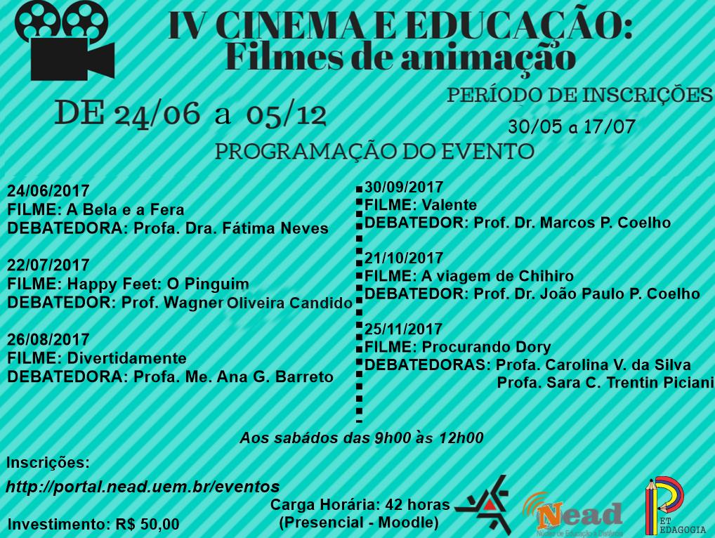 Prorrogação - Cinema e Educação